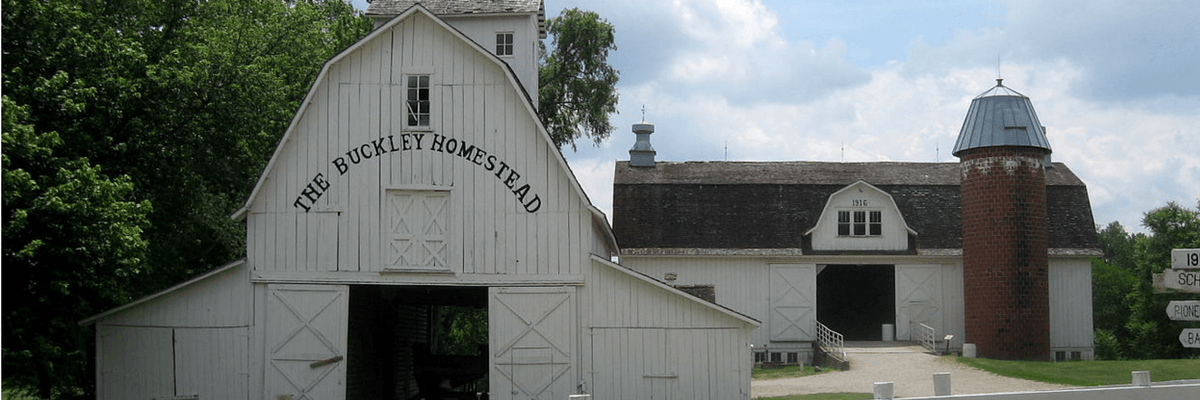 Buckley Homestead bardyard banner