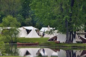 Tents by the Lake